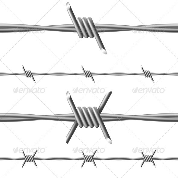 Barbed wire - Borders Decorative
