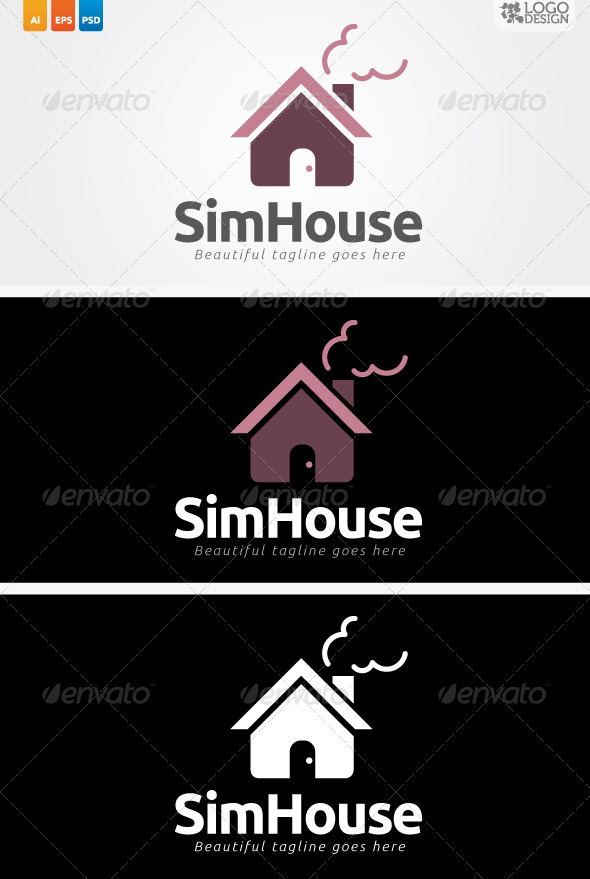 SimHouse - Buildings Logo Templates