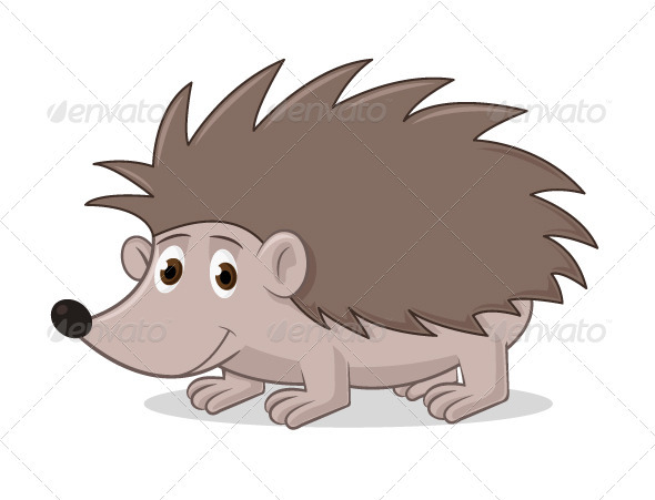 Cartoon Hedgehog - Animals Characters