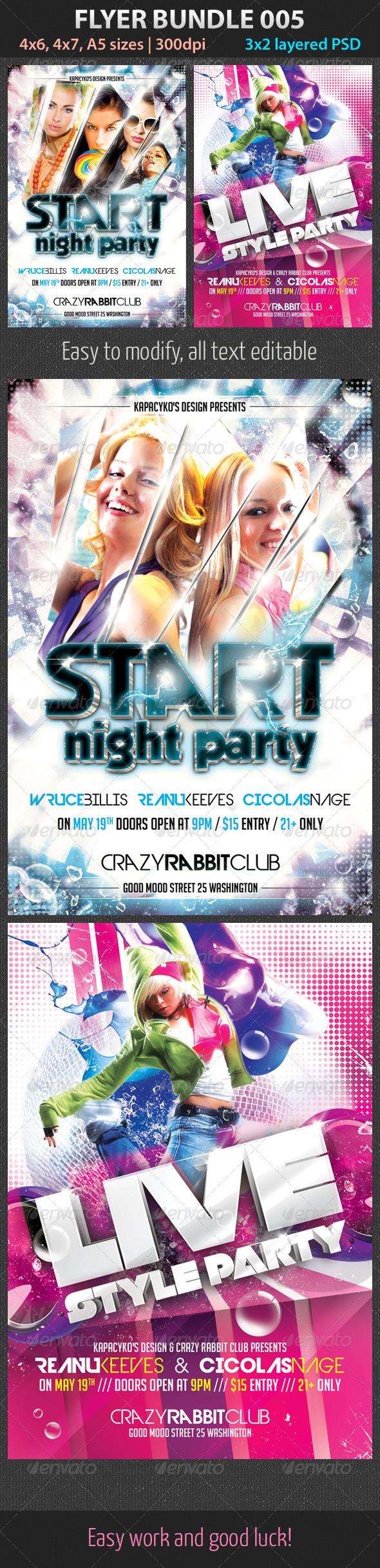 Flyer Bundle 005 - Clubs & Parties Events