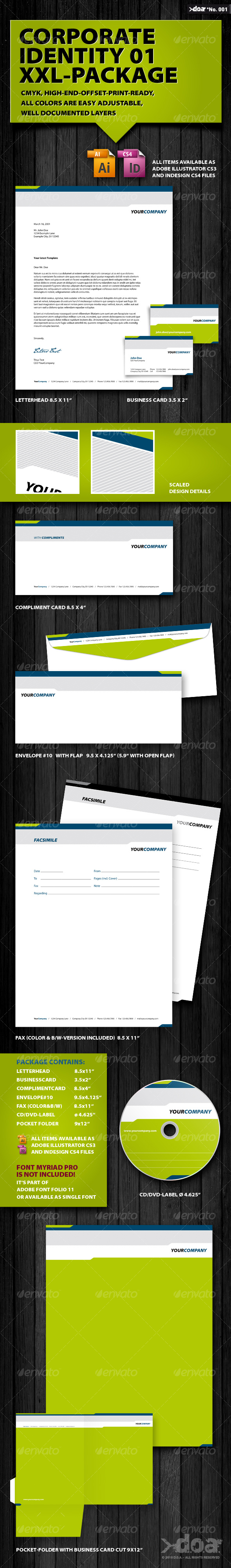 Corporate Identity 01 XXL-Package - Stationery Print Templates