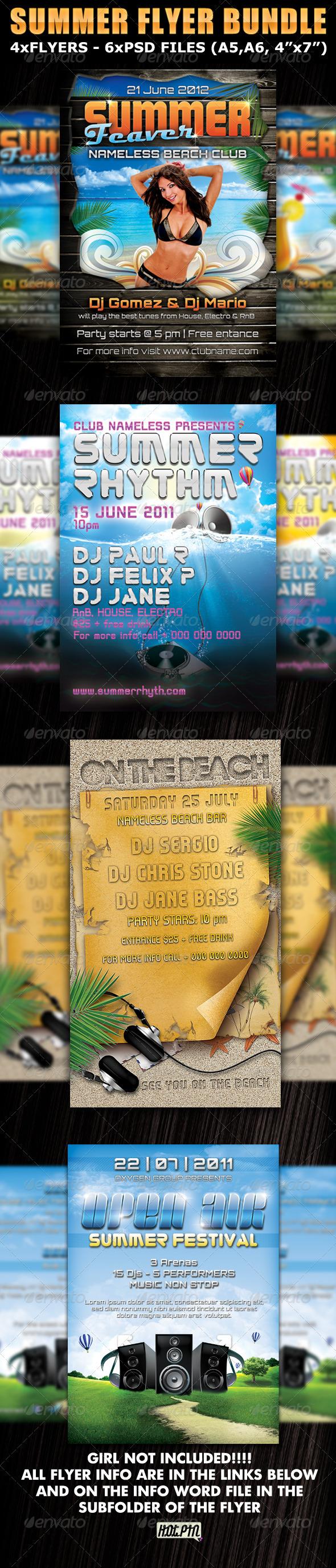 GraphicRiver Summer Party Club Fyers Templates Bundle 303651