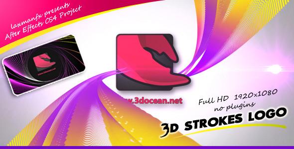 VideoHive 3D Strokes Logo 2857209