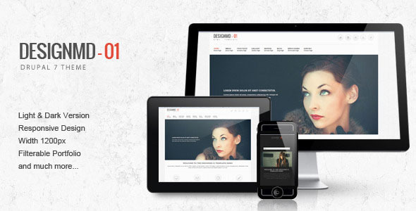Designmd 01 - Responsive Drupal 7 Theme - Drupal CMS Themes
