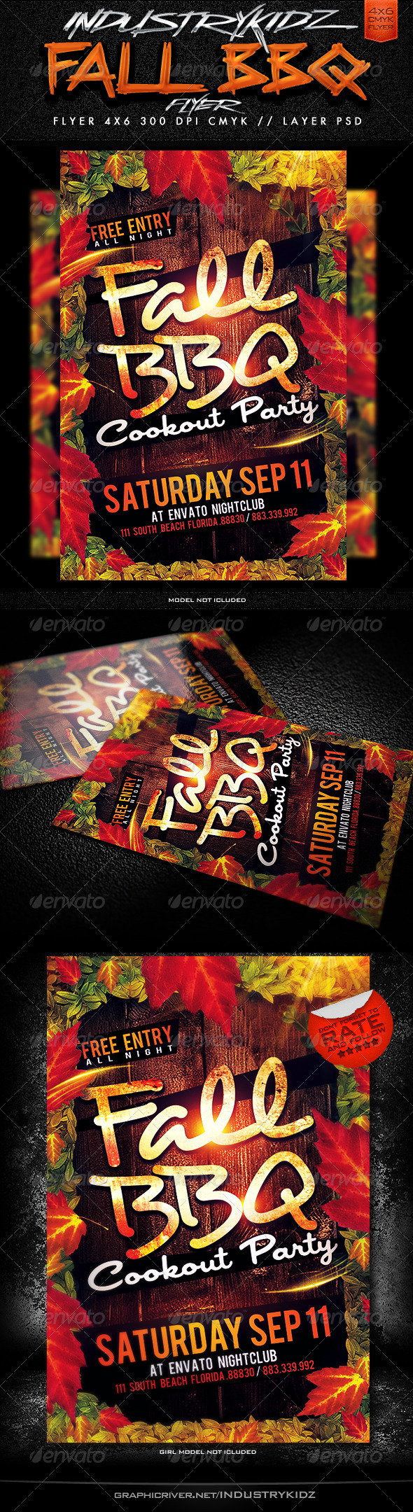 Fall BBQ Flyer Template - Events Flyers