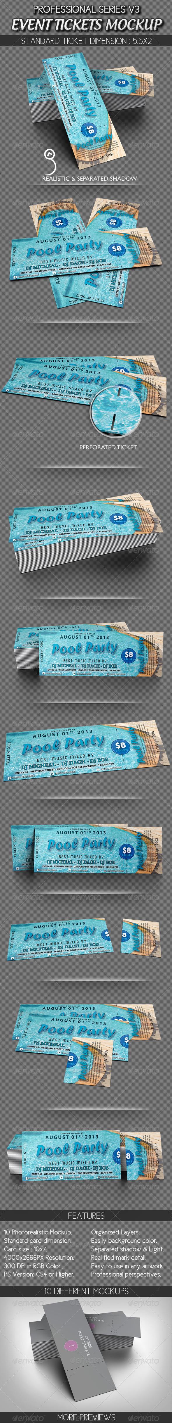 GraphicRiver Event Tickets Mockup 2858558