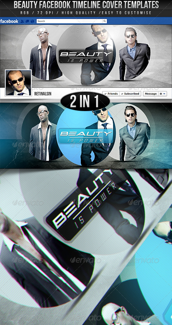 GraphicRiver Beauty Facebook Timeline Covers 2in1 2858678