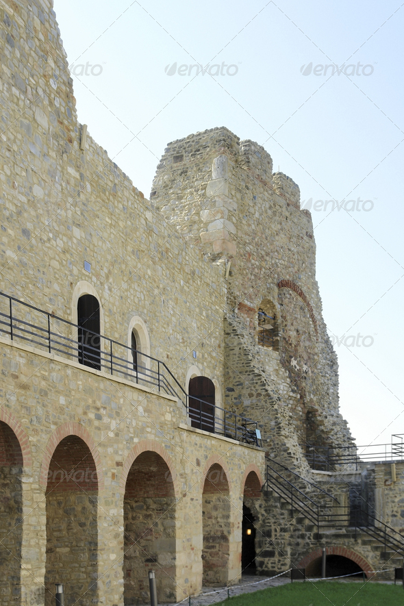 Castle Neamt in Romania - Stock Photo - Images