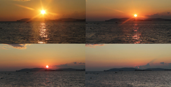 Sunset Over The Sea Time Lapse