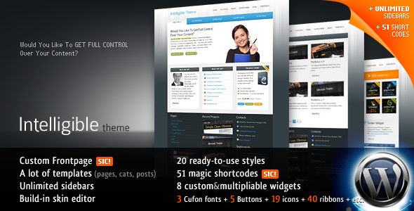 ThemeForest Intelligible Business 20-in-1 WP Theme 102726
