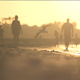 Walking On The Beach At Sunset - VideoHive Item for Sale