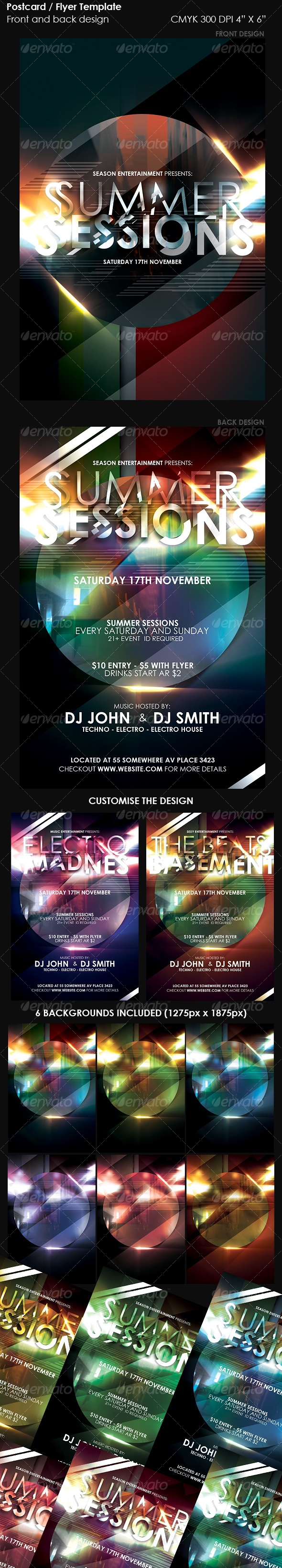 Flyer / Postcard Template. - Clubs & Parties Events