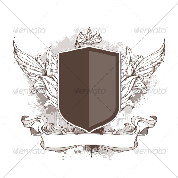 GraphicRiver Badge and bizarre pattern on dirty background 102752