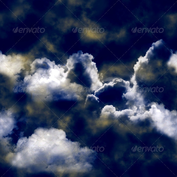 Dramatic skies seamless 4 - Stock Photo - Images