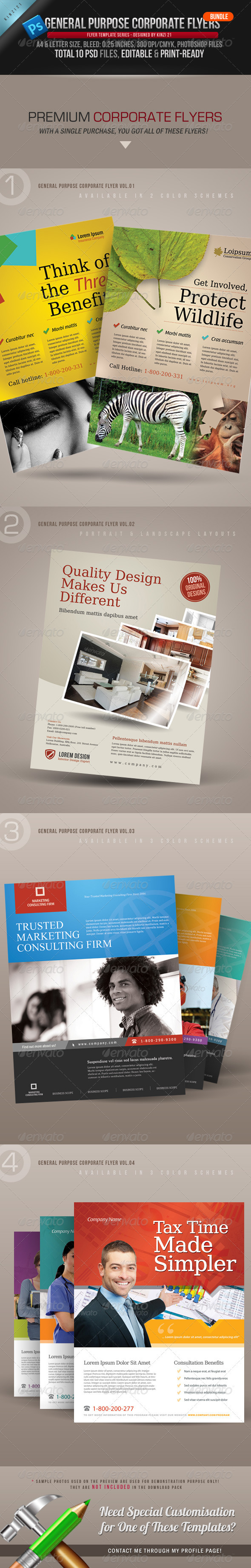 GraphicRiver General Purpose Corporate Flyer Bundle 2861094