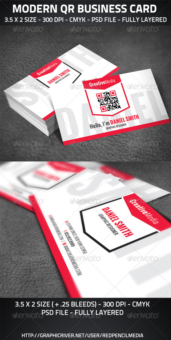 Modern QR Business Card - Creative Business Cards