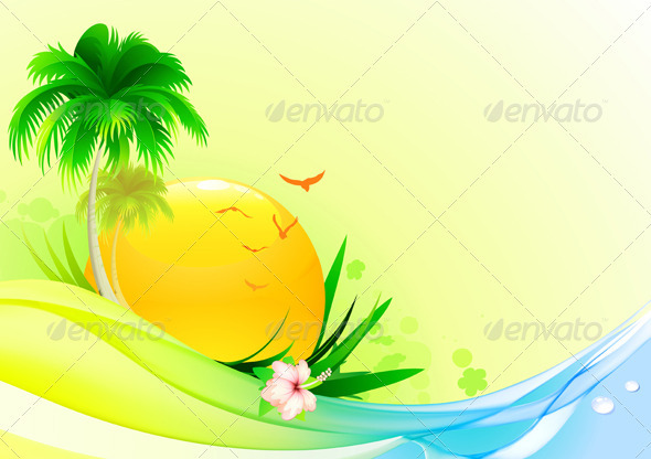 Summer  background - Seasons/Holidays Conceptual