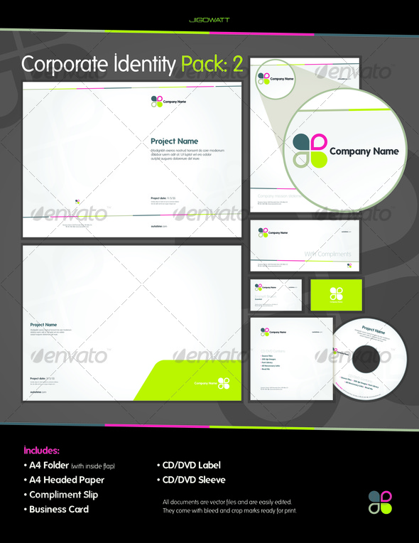 Corporate ID: Pack 2 - Stationery Print Templates