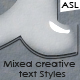 Mixed Creative Text Styles - GraphicRiver Item for Sale
