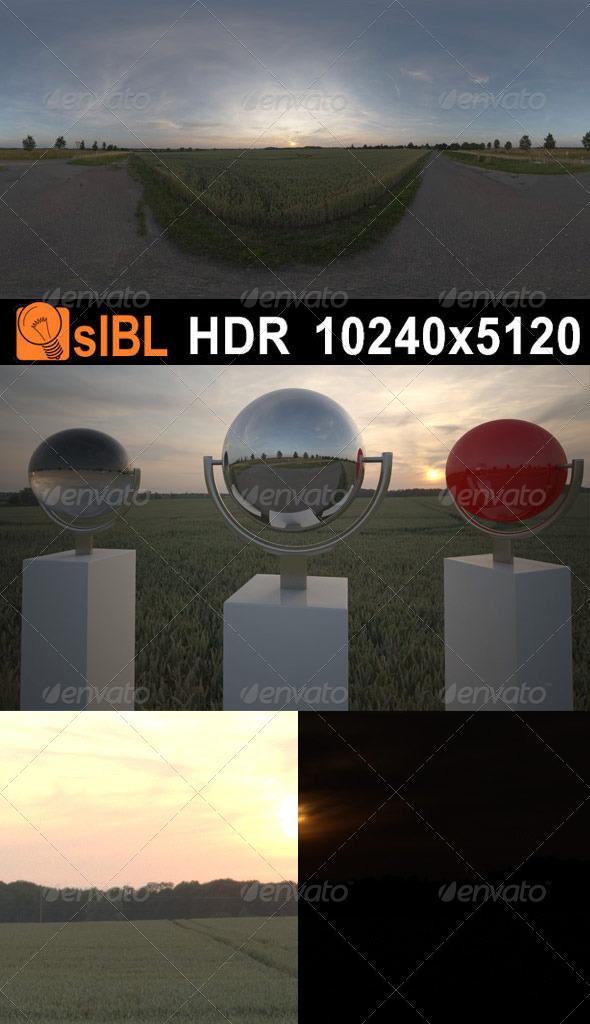 HDR 051 Road Dawn sIBL - 3DOcean Item for Sale