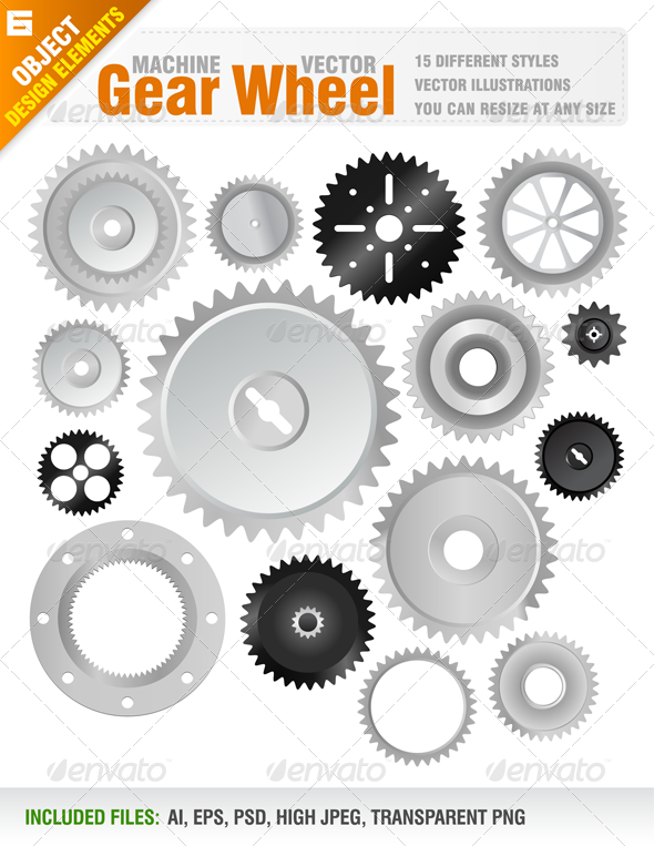 15 Machine Gear Wheels - Industries Business