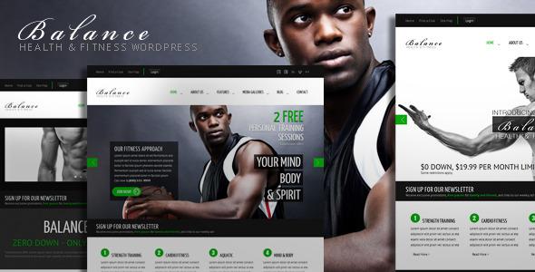 Balance - Gym Fitness WordPress HTML 5 Theme