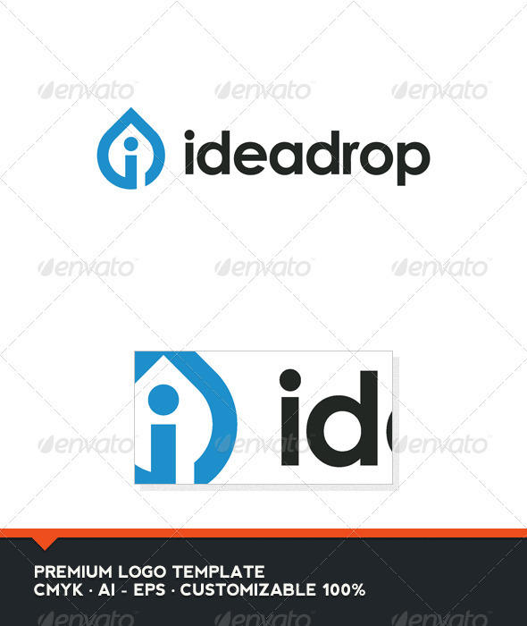 Idea Drop Logo Template - Letters Logo Templates
