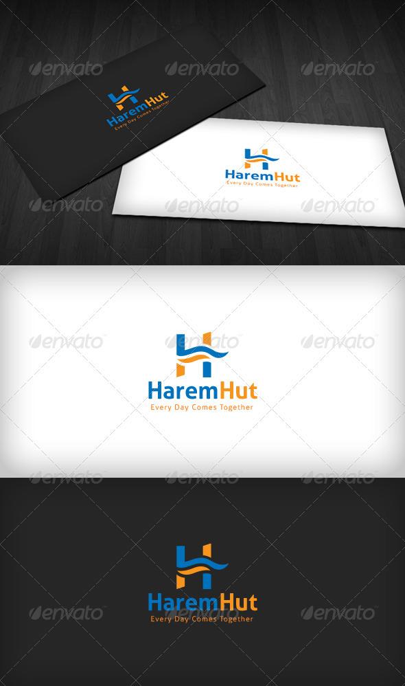 Harem Hut Logo - Letters Logo Templates