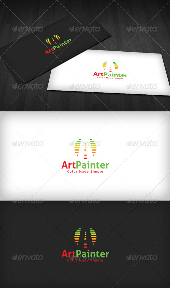 Art Painter Logo - Letters Logo Templates