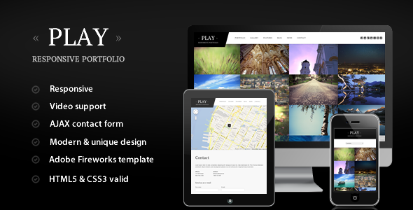 ThemeForest Play Responsive Portfolio 2854100