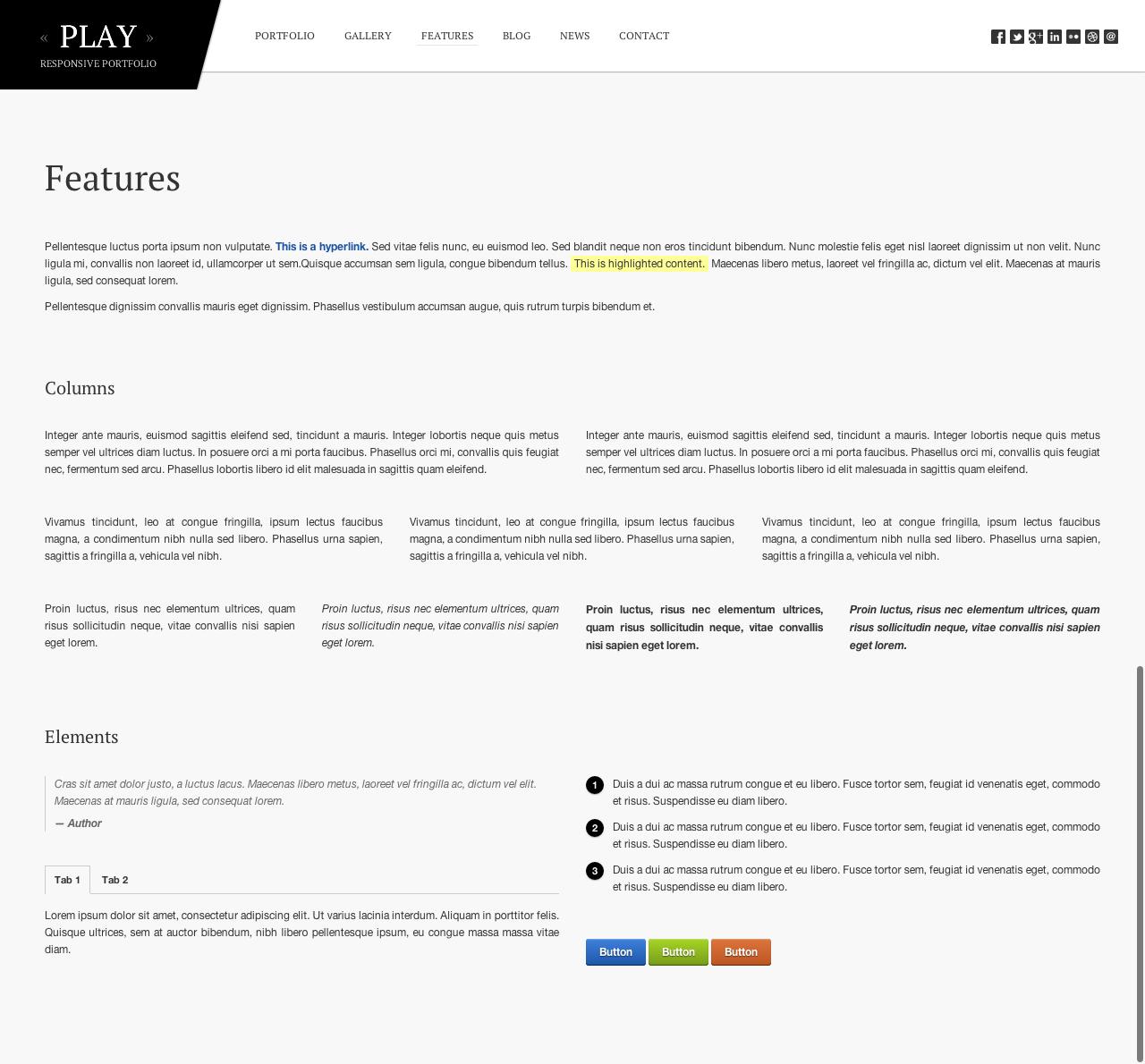 Play - Responsive Portfolio