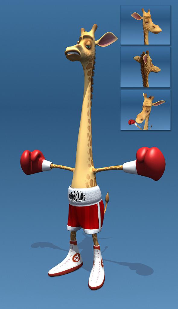 3DOcean Giraffe Boxer 102863