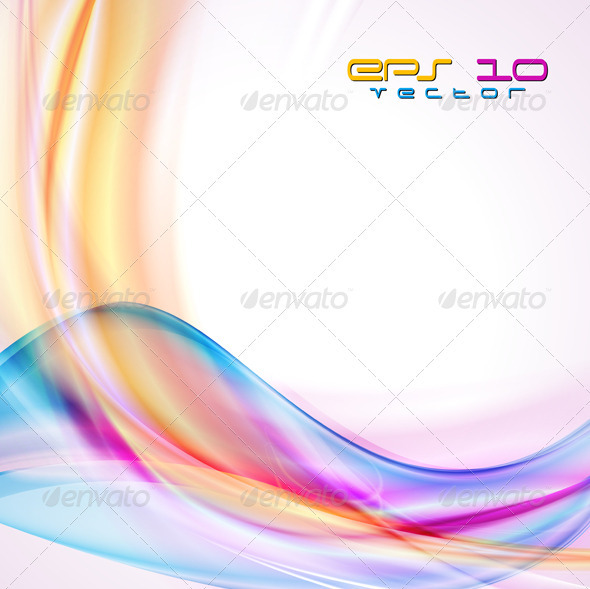 Colourful wavy design - Abstract Conceptual
