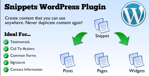CodeCanyon Snippets WordPress Plugin 2861638