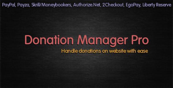 CodeCanyon Donation Manager Pro 2380174