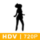 HDV Silhouette of dancing girl - VideoHive Item for Sale