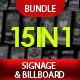 Pro Design Signage & Billboard Bundle - 15 in 1  - GraphicRiver Item for Sale