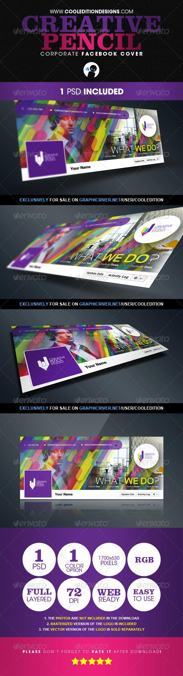 GraphicRiver Creative Pencil Corporate Facebook Cover 2855089