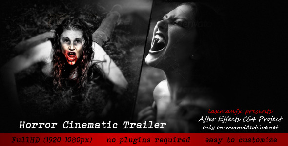 After Effects Project - VideoHive Horror Cinematic Trailer 2861589