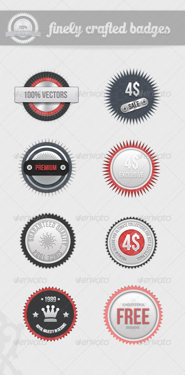 Finely Crafted Badges - V2 - Badges & Stickers Web Elements
