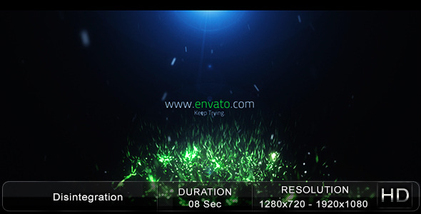 After Effects Project - VideoHive Disintegration 2868211
