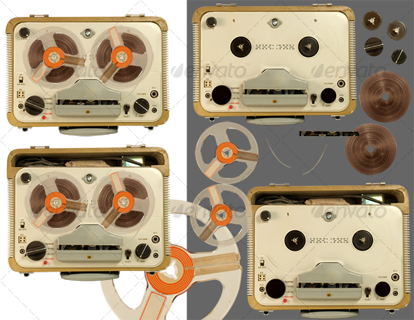 Old tape recorder parts