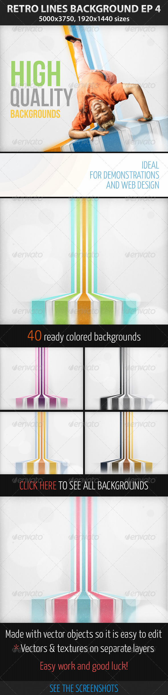 GraphicRiver Retro Lines Background ep 4 2868910