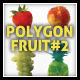 Polygon Triangular Vector Fruit Set #2