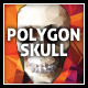 Polygon Vector Skull & Vibrant Polygon Background
