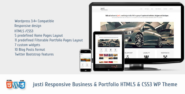 Justi Responsive HTML5&CSS3 WordPress Theme