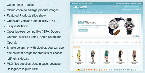Apparel OpenCart Template - OpenCart eCommerce