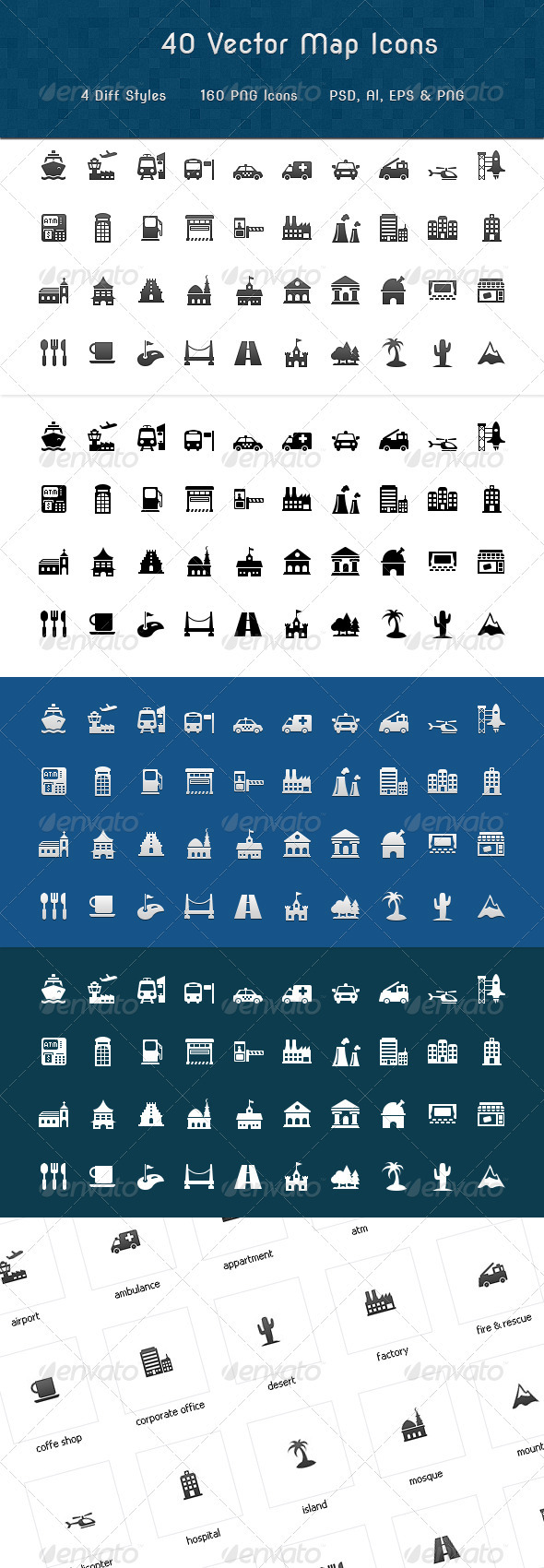 Map Symbols Icons - Objects Icons