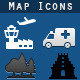 Map Symbols Icons - GraphicRiver Item for Sale
