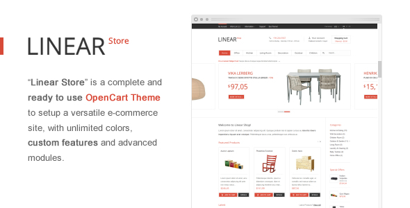 Linear Store – Premium OpenCart Theme Download